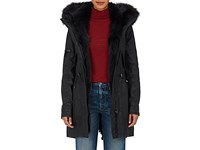 Sam Women's Luxe Limelight Fur Lined Coated Cotton Blend Coat Dark Grey