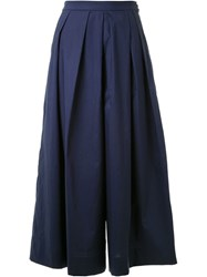 Muveil Pleated Culottes Blue