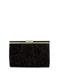 La Regale Medium Velvet Clutch Black