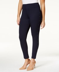 Styleandco. Style And Co. Plus Size Rhinestone Embellished Leggings Only At Macy's