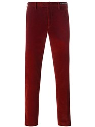 Pt01 Corduroy Slim Fit Trousers Red