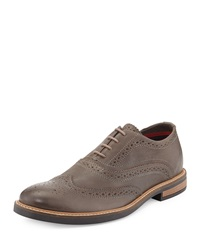 Ben Sherman Brent Lace Up Wing Tip Shoe Gray