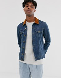 Brooklyn Supply Co. Co Denim Jacket With Collar In Blue