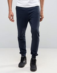 New Look Skinny Joggers With Zip Detail In Navy Navy
