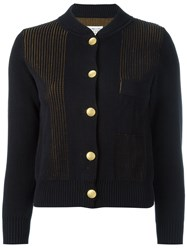 Maison Martin Margiela Layered Knit Cardigan Blue