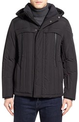 Tumi Men's Quilted Hooded Down Jacket Black