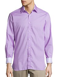 Report Collection Regular Fit Pindot Cotton Sportshirt Lavender