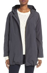 Eileen Fisher Women's Organic Cotton And Nylon Hooded Jacket