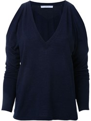Dion Lee Triple V Sweater Blue