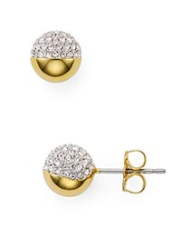 Nadri Pave Ball Stud Earrings Clear