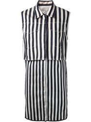 3.1 Phillip Lim Two Piece Striped Dress Blue