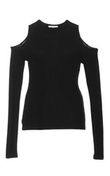 Getting Back To Square One Cutout Thumbhole Sweater Black