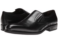 A. Testoni Nappa Slip On W Rubber Sole Side Vents Black Men's Slip On Shoes