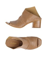 Lemare Mules Light Brown