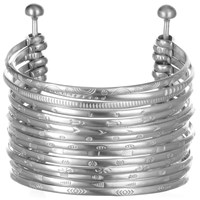 Satya Jewelry Stack Bangle Cuff Full Stack Silver