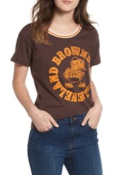 Junk Food Nfl Browns Kick Off Tee Dark Chocolate Orange