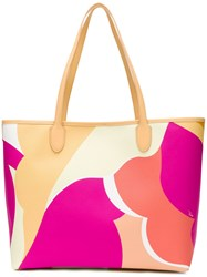 Emilio Pucci Printed Oversized Tote Nude And Neutrals