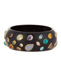 Ashley Pittman Urujuani Studded Dark Horn Bangle Multi