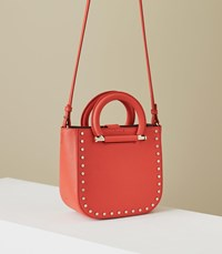 Reiss Mayfair Mini Leather Tote In Red