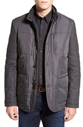 Men's Bugatchi Quilted Jacket With Woven Sleeves