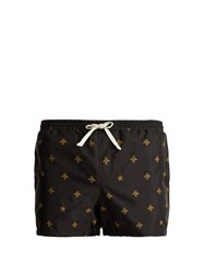 Gucci Bee Jacquard Swim Shorts Black