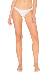 Free People Oh My Darling Thong White