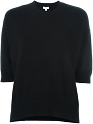 Vince Elbow Sleeve Sweater Black