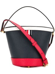 Thom Browne Fun Mix Leather Sand Bucket Bag Blue