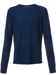 Rag And Bone 'Giles' Jumper Blue
