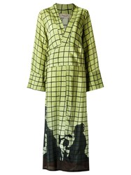Adriana Degreas Maxi Dress Green