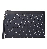 Want Les Essentiels Barajas A4 Embellished Coated Leather Document Holder Navy