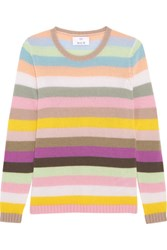 Allude Striped Cashmere Sweater Pink