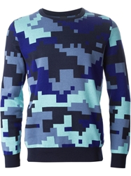 Ps Paul Smith Pixelated Camouflage Sweater