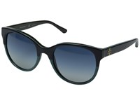 Tory Burch 0Ty7095 Navy Turquoise Hunter Blue Grey Gradient Fashion Sunglasses Black