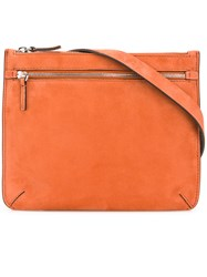 Theory Zipped Crossbody Bag Yellow And Orange