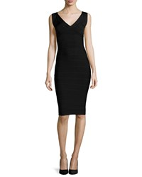 Herve Leger Scoop Back Bandage Dress Black