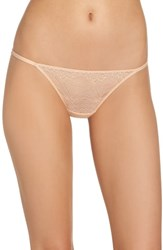Madewell Lace String Bikini Voile Pink