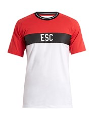 Every Second Counts Start Line Logo Print Cotton T Shirt Red Multi