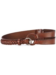 Orciani Woven Belt Women Leather 85 Brown
