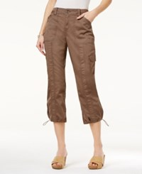 Styleandco. Style Co. Cargo Capri Pants Only At Macy's Brown Clay