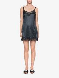 Dolce And Gabbana Silk Lace Chemise Blue