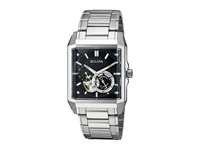 Bulova Automatic 96A194 Sliver Black Watches Silver