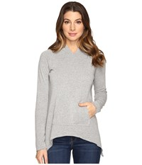 Lna Side Tail Hoodie Heather Grey Women's Sweatshirt Gray