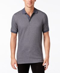 Tasso Elba Men's Houndstooth Polo Only At Macy's Deep Black Combo