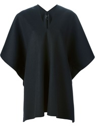 Yang Li Wool Cape Black