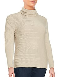 Lafayette 148 New York Long Sleeve Cashmere Sweater Khaki