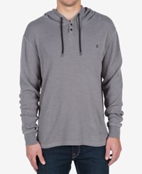 Volcom Men's Murphy Thermal Hooded Knit Pewter