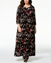 Styleandco. Style Co Plus Size Printed Maxi Dress Created For Macy's Ditsy Black