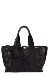 Pedro Garcia 'Castoro' Perforated Suede Tote Black