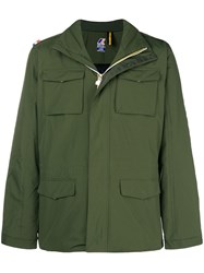K Way Multi Pocket Zip Jacket Green